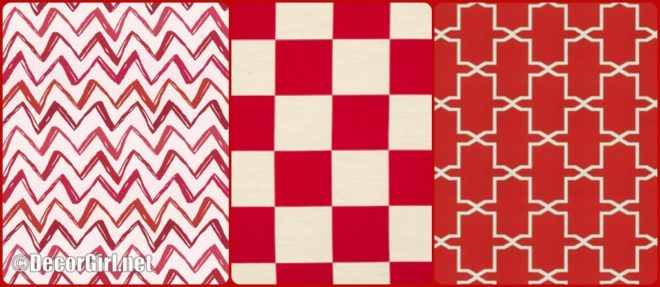 Red Outdoor fabrics