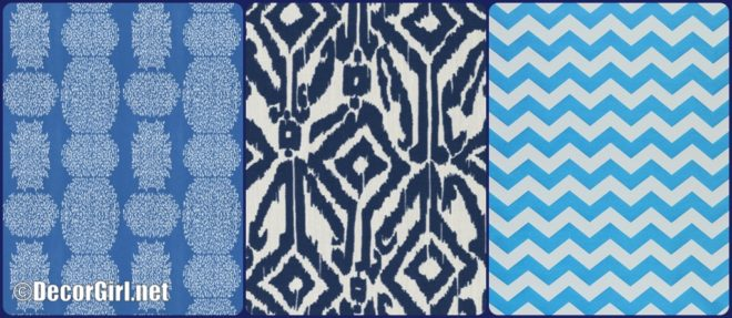 Blue outdoor fabrics