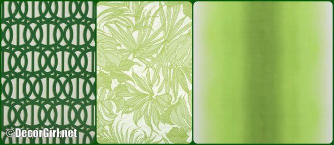 Green outdoor fabrics