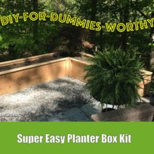 Super easy planter box kit from Natural Yards