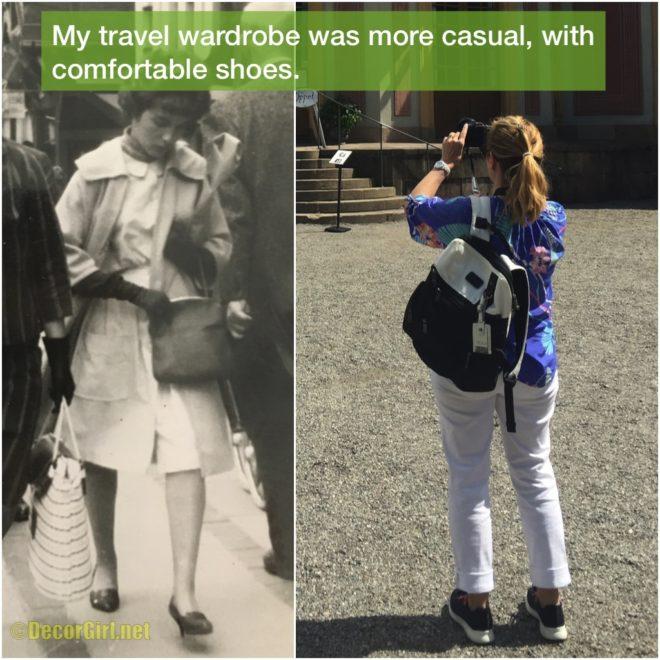 Mom's travel wardrobe vs mine