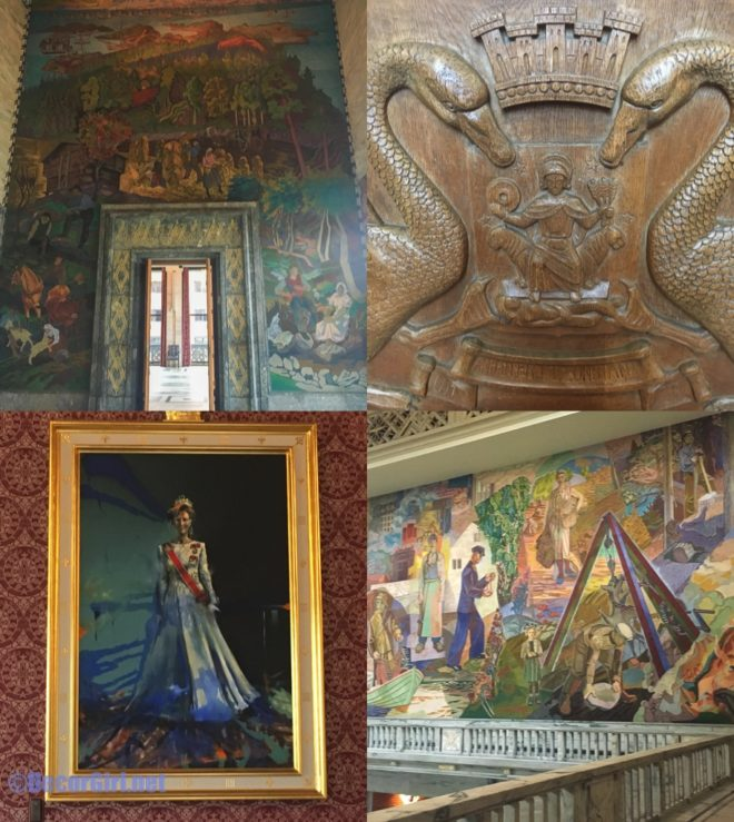 rt and murals at Oslo City Hall