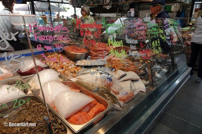 Food offerings at Torvehallerne Market