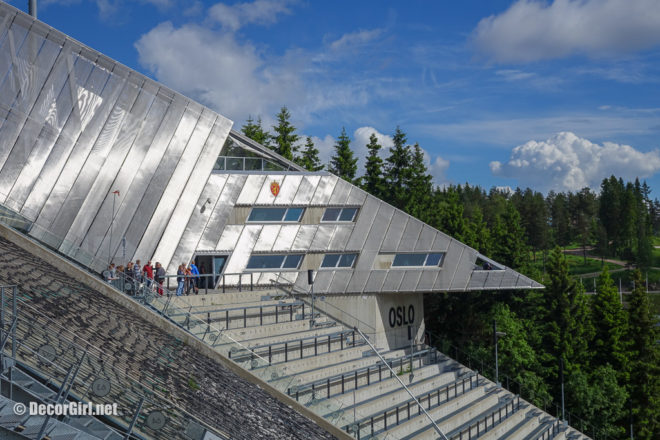 Contemporary architecture of Holmenkollen Facility