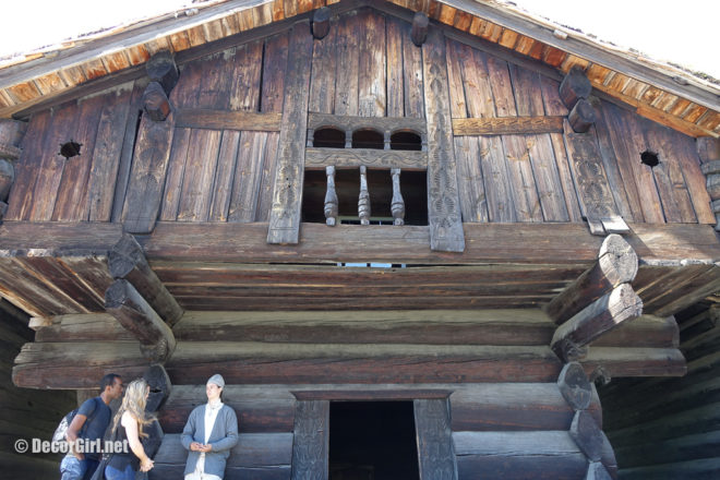 Old Norwegian log house at Open Air Museum