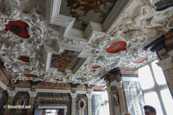 The Marble Room ceiling at Rosenborg Castle