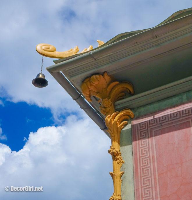 Corner detail on Chinese Pavillion at Drottingholm