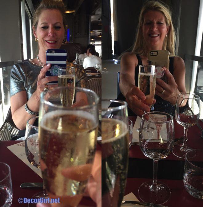 dining selfie at 58 Eiffel Restaurant