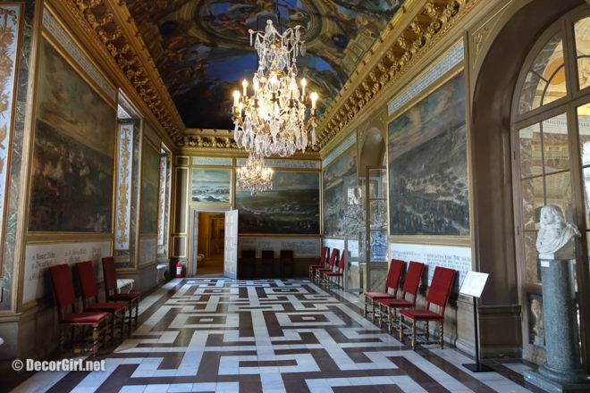 Geometric marble floors at Drottingholm