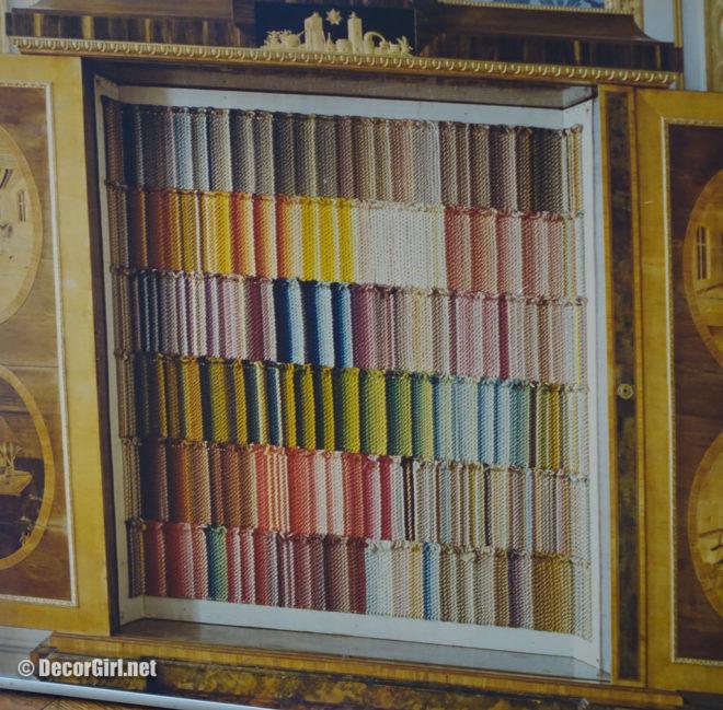 silk color samples from Drottingholm