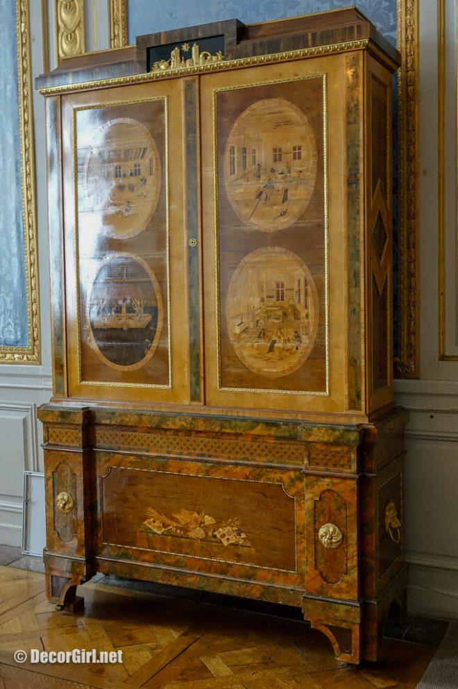 Silk Cupboard in the Blue Salon