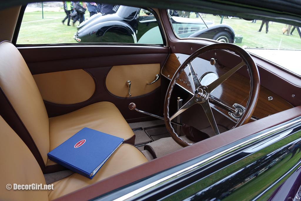 1936 Bugatti Type 57 Binder Coupe interior