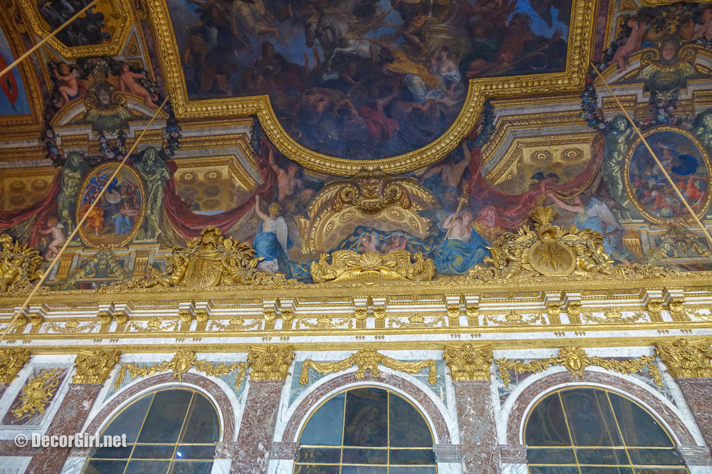 Ceiling in Hall of Mirrors at Versailles