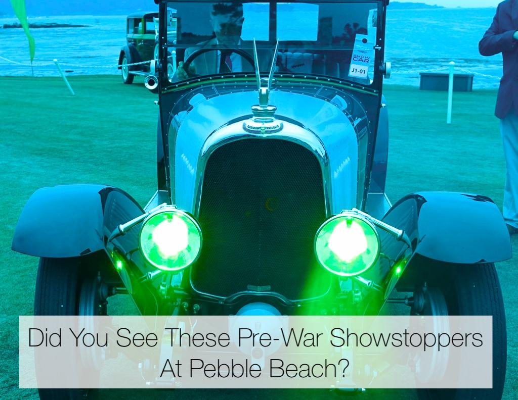 Pre-War Cars At Pebble Beach