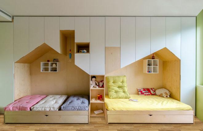 Minimalist kids bedroom