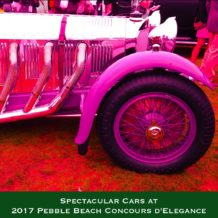 Cars from Pebble Beach 2017