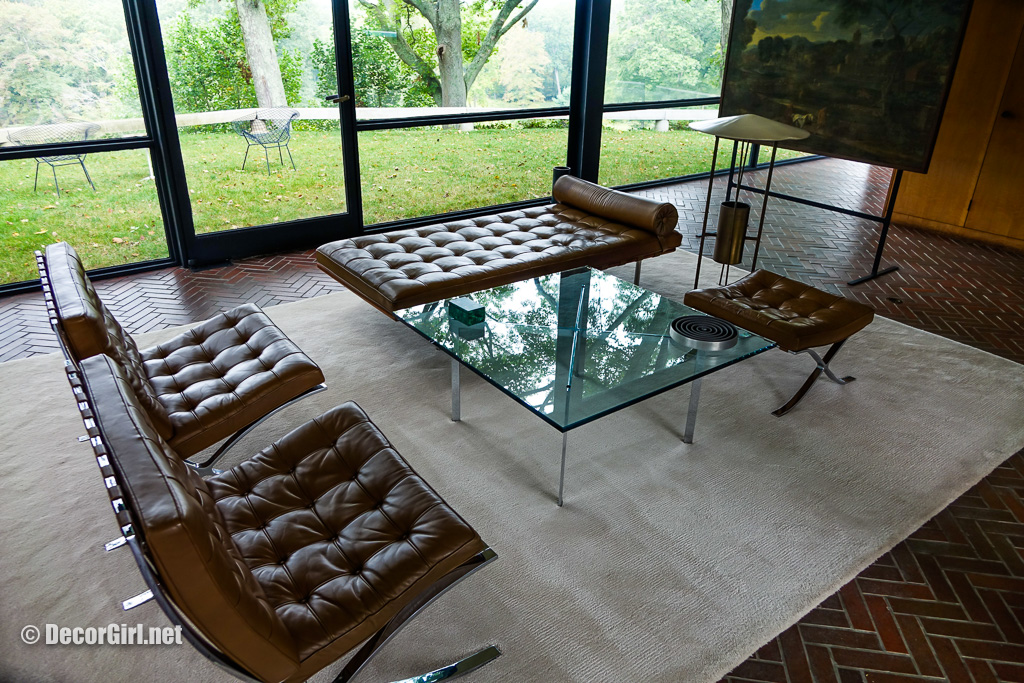 Living Room in The Glass House