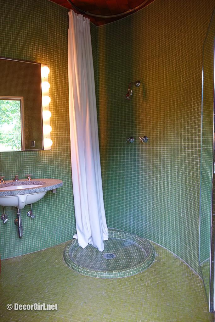 Tile bathroom at The Glass House