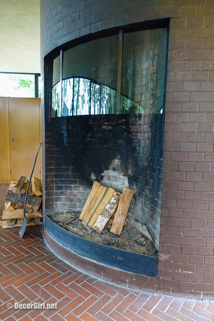 Fireplace at The Glass House