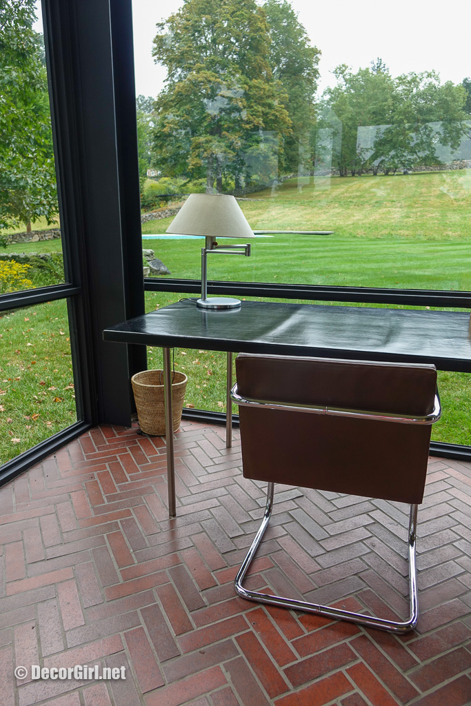Philip Johnson's Desk at The Glass House