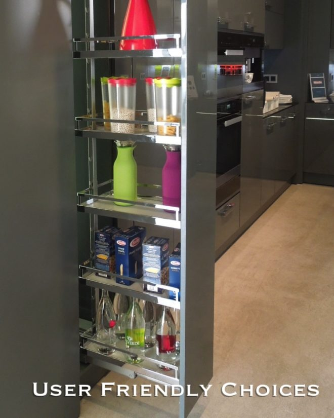 user friendly kitchen cabinets with pull-outs