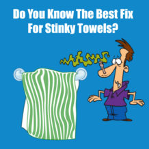 Best fix for smelly towels