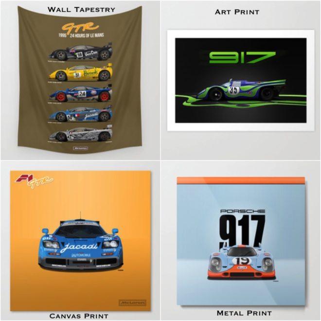 McLaren and Porsche prints