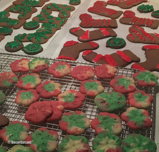 Gingerbread stockings and Christmas Spritz cookies