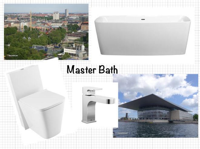 Inspiration board for master bathroom