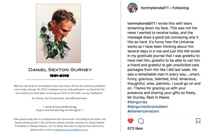 Tribute to Dan Gurney