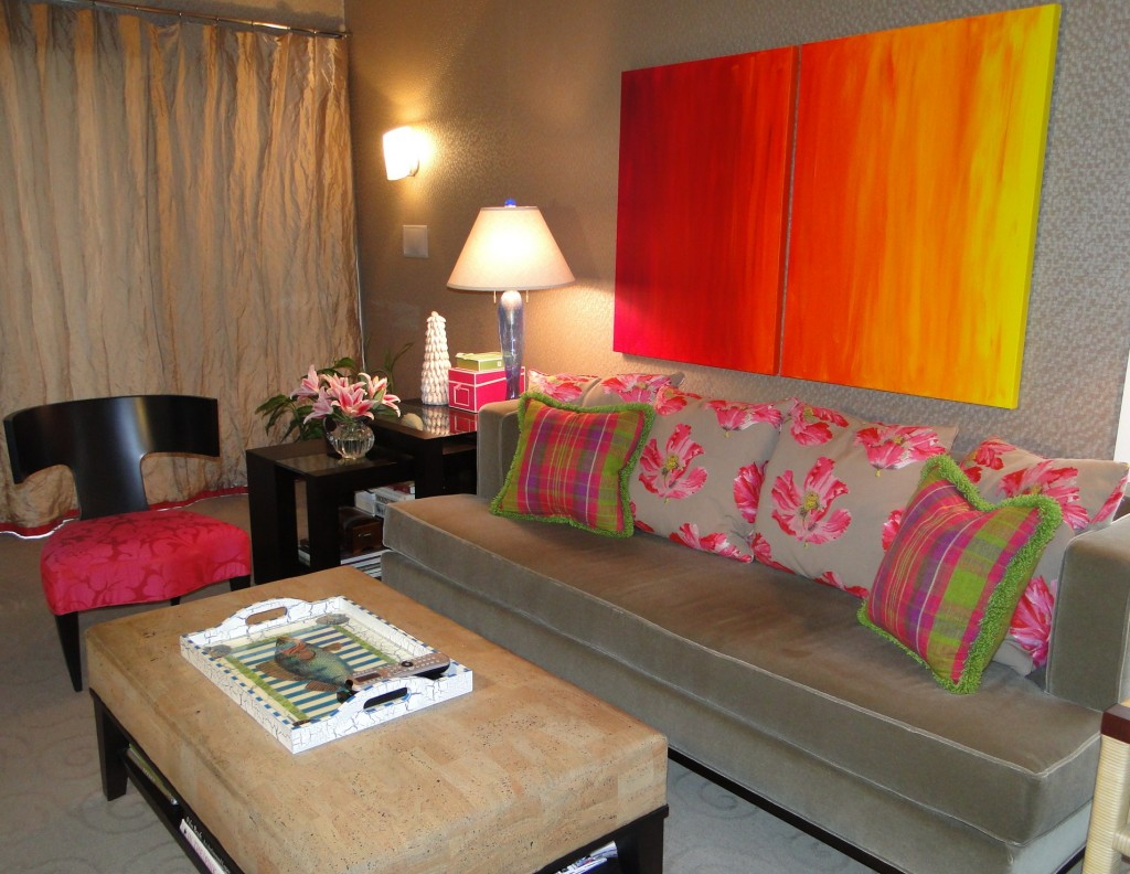 Art customized for colors of the room