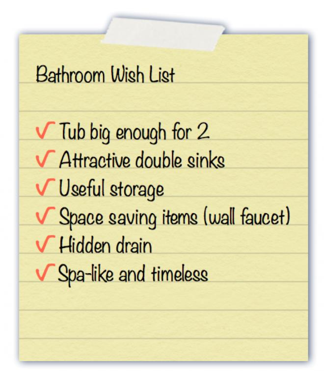 Bathroom wish list