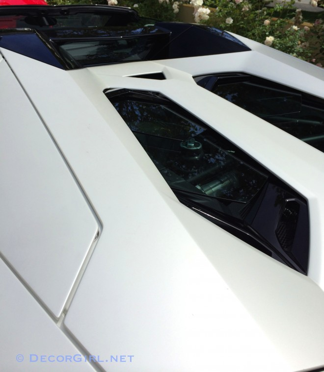 Lamborghini Aventador LP 700-4 engine compartment covered