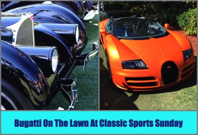 Bugatti on the Lawn at Classic Sports Sunday