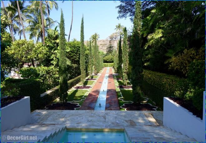 Entrance garden at Shangri-La
