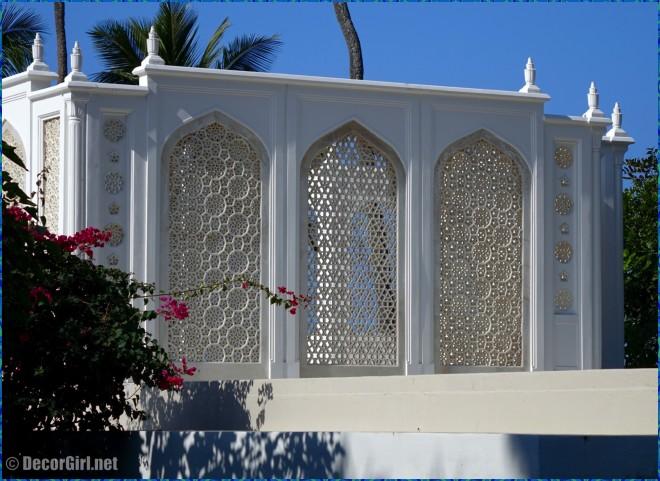 Rear of the Jali Pavilion at Shangri-La
