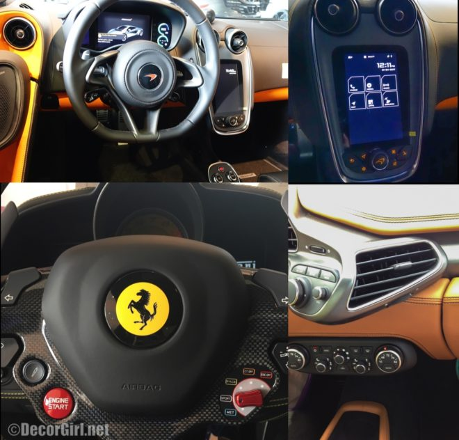 McLaren Dashboard vs Ferrari Dashboard