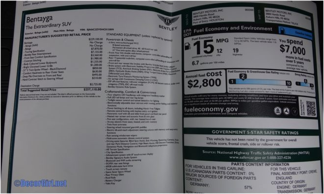 Bentayga price as driven
