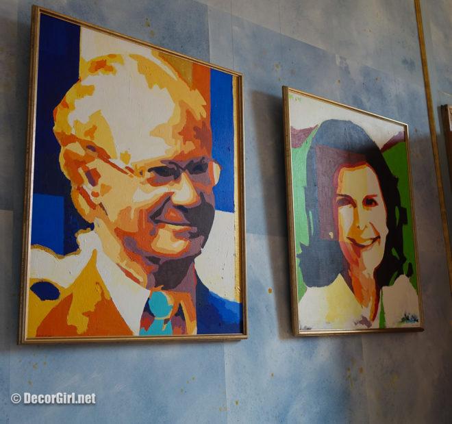 Modern portraits of King Carl XVI Gustav and Queen Silvia