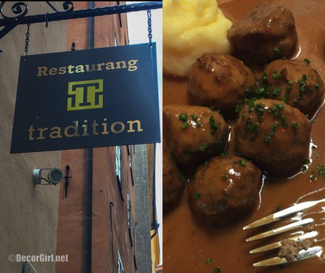 Swedish Meatballs at Tradition