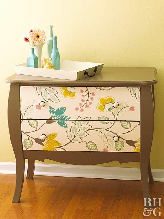 wallpaper a dresser