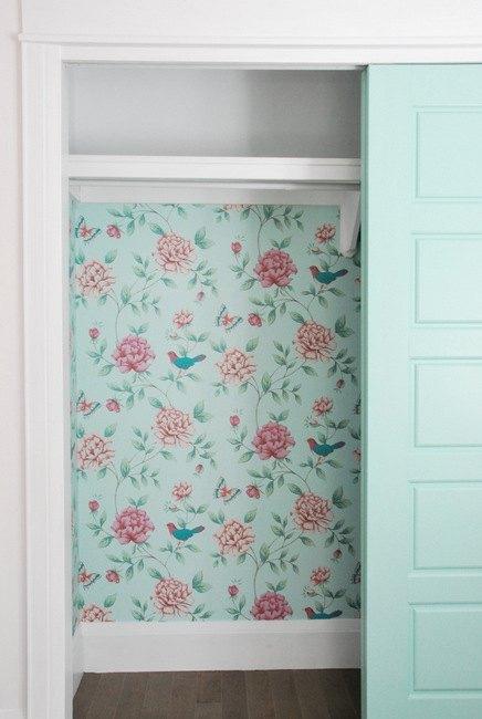 wallpaper a small closet