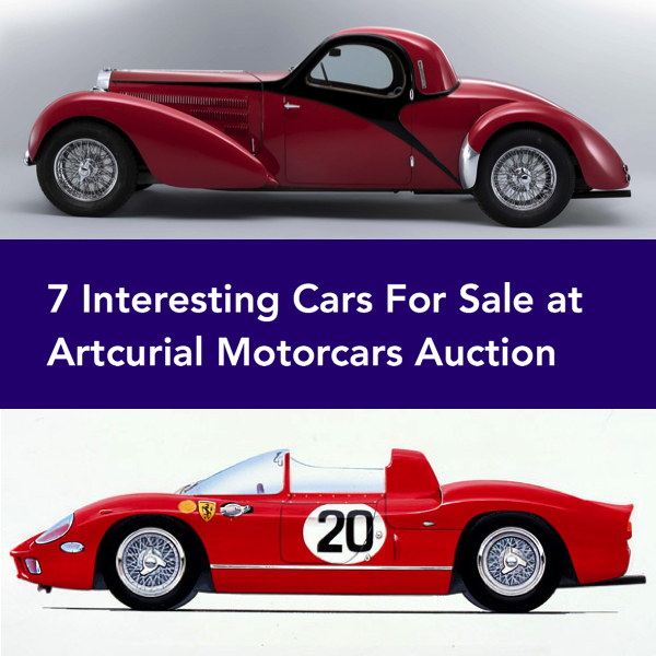 7 Interesting Cars For Sale at Artcurial Motorcars Auction