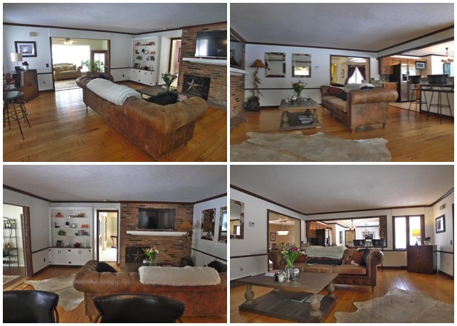 Bad real estate photos of living room