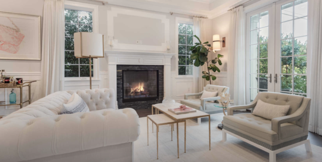 Beautiful real estate photo of living room