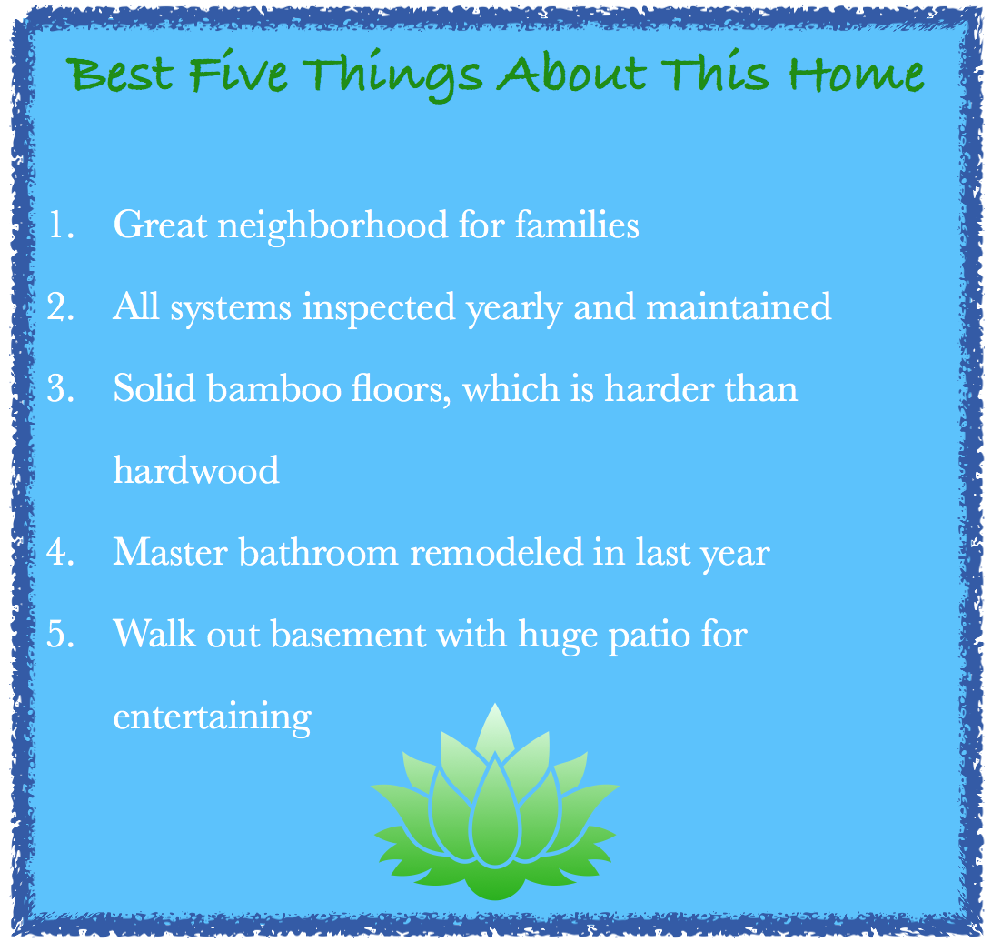 List of a home'a attributes