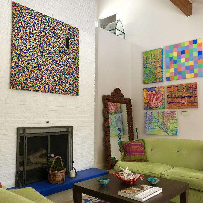 colorful artwork at home
