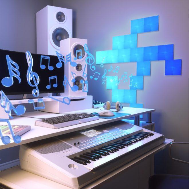 LED Wall Panels Set To Music