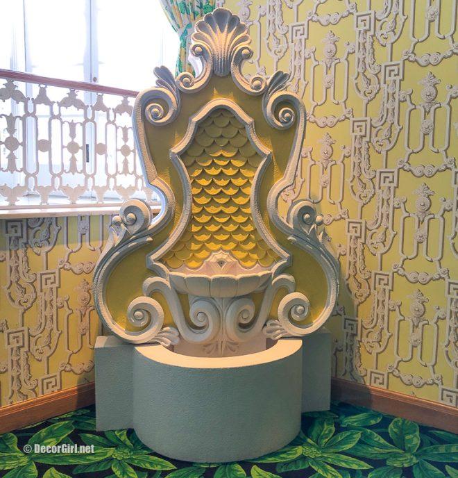 signature Dorothy Draper fountain