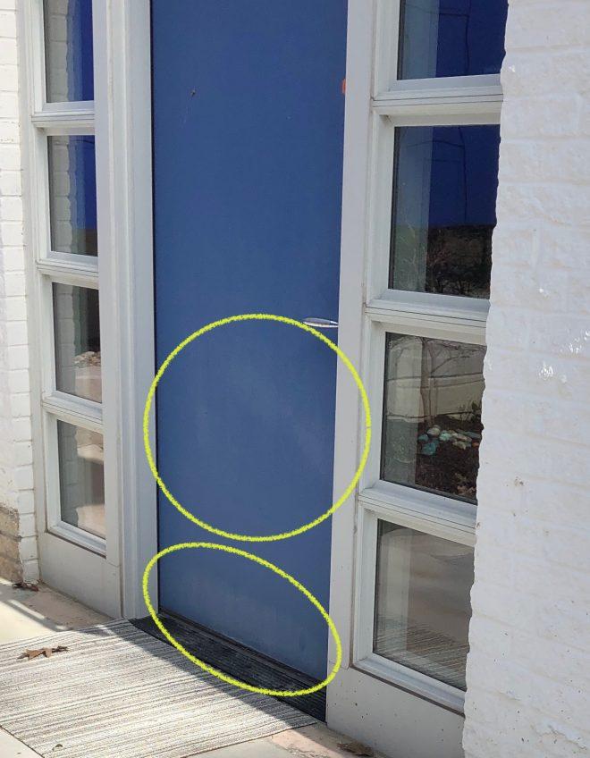 Faded front door